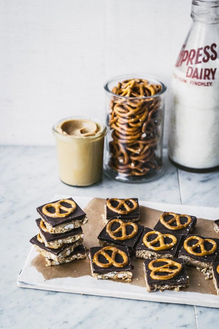 Peanut Butter & Pretzel Bars