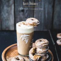 Pumpkin Spice Baked Doughnuts with a Maple-Cinnamon Glaze (gluten free!)