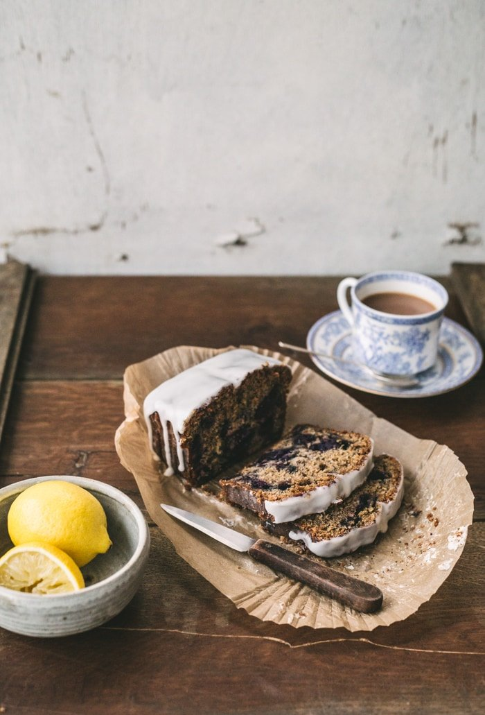 Earl Grey Tea, Blueberry and Lemon Cake