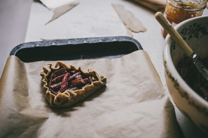 Rhubarb and Rye-Cinnamon Tartlets