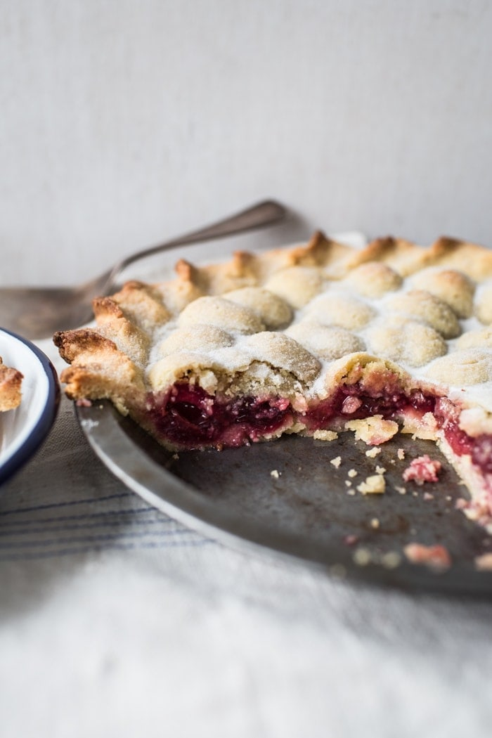 Bumpy Cherry and Almond Pie