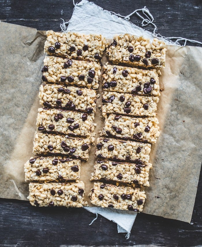 Chewy, Chocolate Chip, Coconut Granola Bars {GF, Vegan}