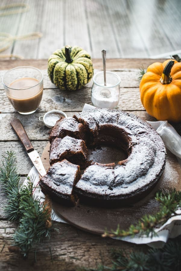 Chocolate Chip, Pumpkin and Rye Bundt Cake
