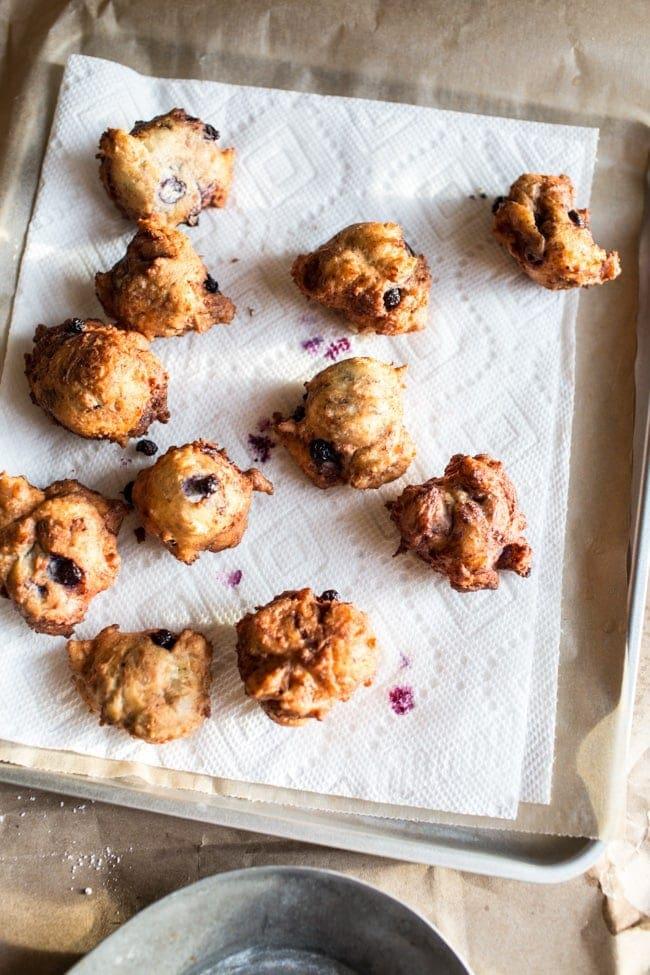 Wild Blueberry & Coconut Ricotta Doughnuts-16