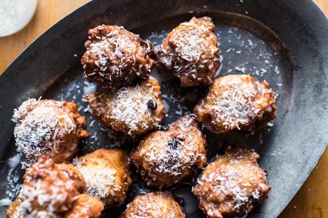 Wild Blueberry & Coconut Ricotta Doughnuts-30