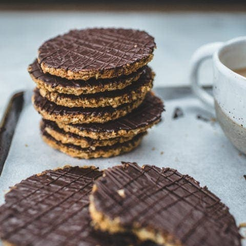 Homemade Chocolate HobNob Biscuits