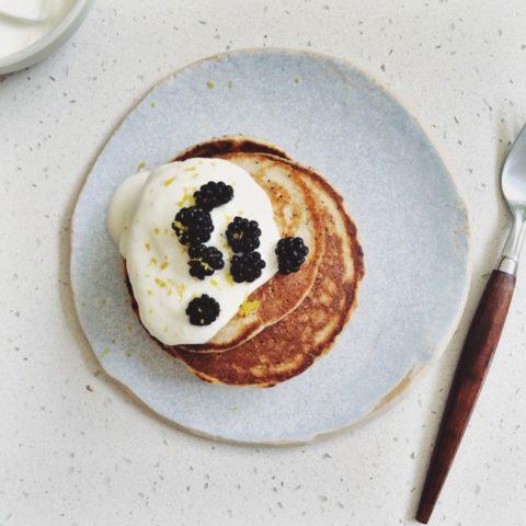 Wheat-Free Lemon & Poppy Seed Pancakes