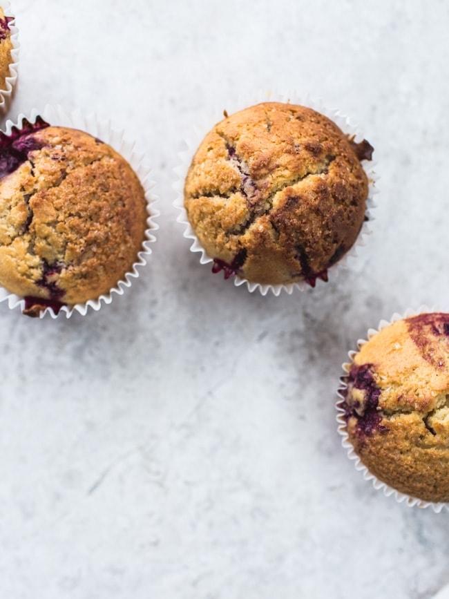 Loganberry & Cornmeal Muffins-6