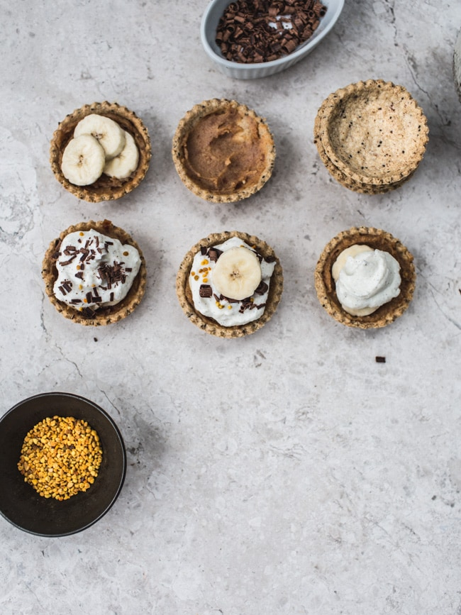 banoffee pie tartlets (vegan, GF & No Refined sugar)-1695