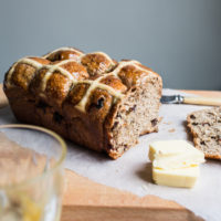 Rye Hot Cross Bun Loaf