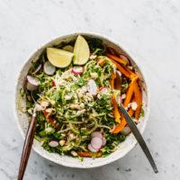 Miso-Orange Courgetti Salad