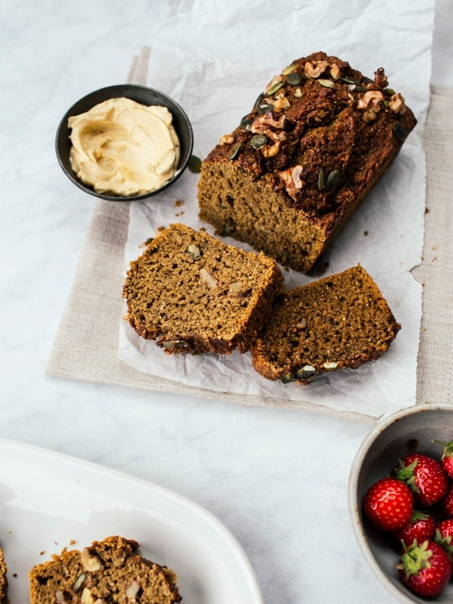 Sweet Potato & Cinnamon Breakfast Bread {Vegan} - Izy ...