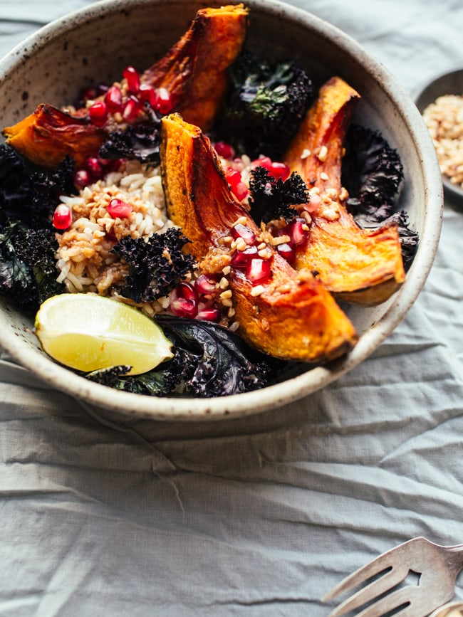 squash-crispy-kale-bowls-with-pomegranate-and-miso-ginger-dressing-19