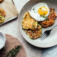 Potato, Pea & Leek Pancakes