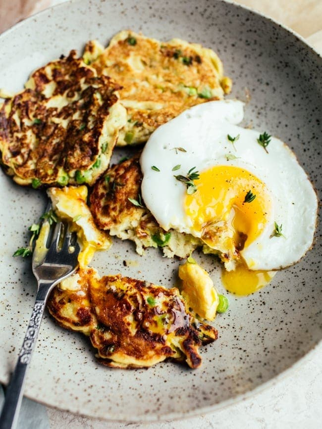 potato pea and leek pancakes-3