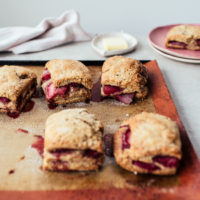 Strawberry Rye Scones