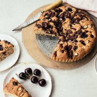 Cherry, Chocolate & Hazelnut Torte