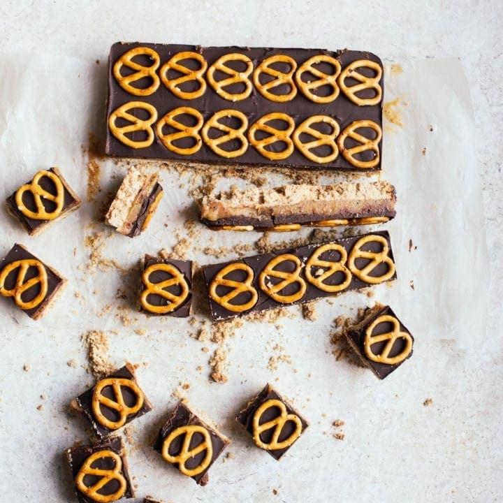 Malted Pretzel Millionaire's Shortbread