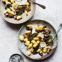 Mushroom & Sage Butter Gnocchi