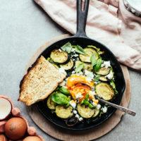 Courgette, Basil & Feta Baked Eggs