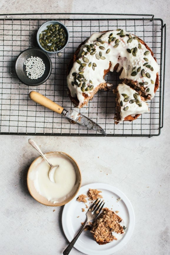 Parsnip Cake with Cream Cheese Glaze