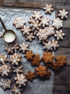 Lemon-Glazed Gingerbread Cookies
