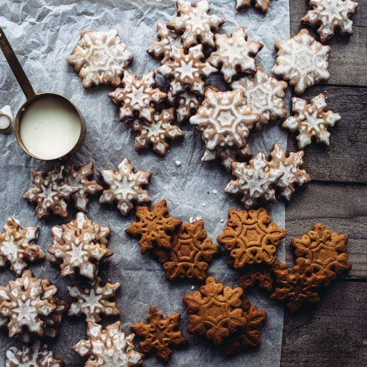 Lemon-Glazed Gingerbread Cookies