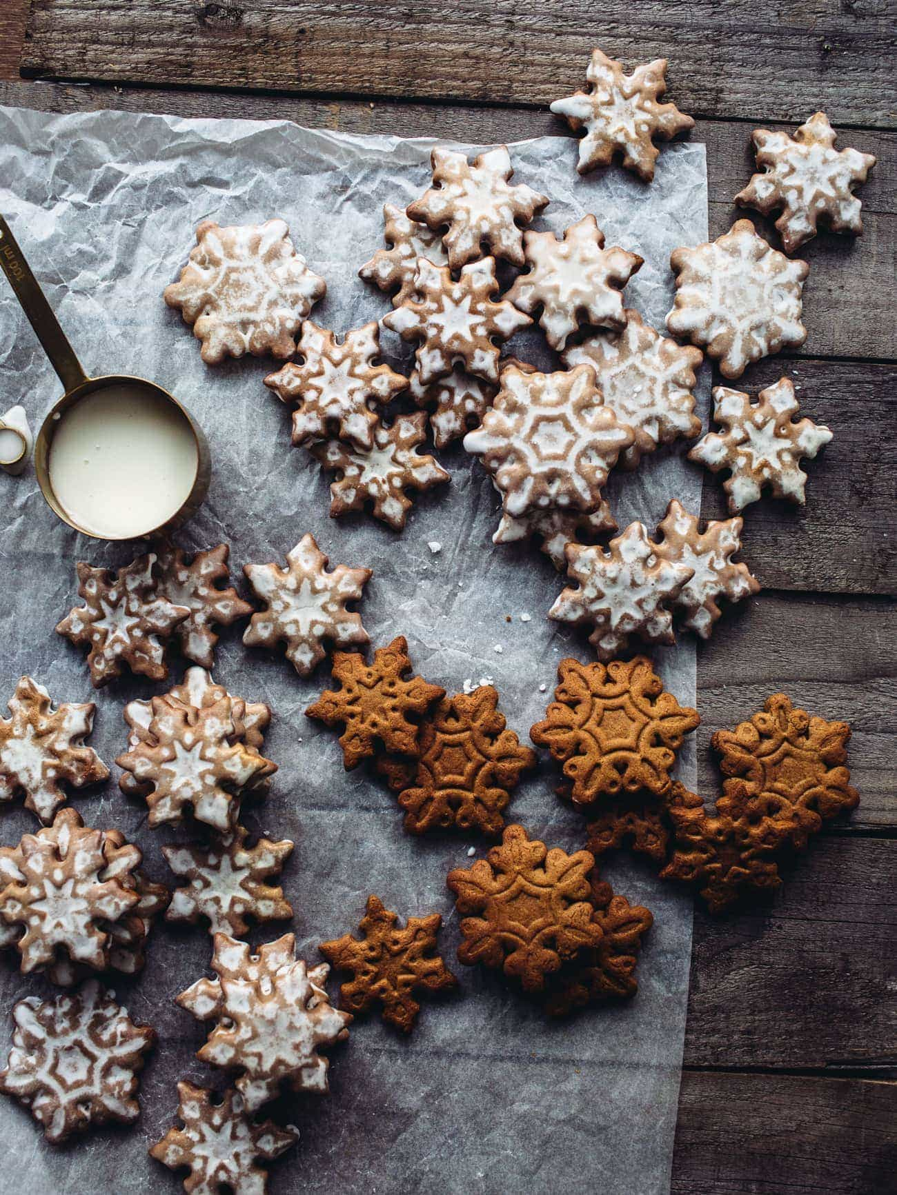 Lemon Cardamom Gingerbread Cookies Izy Hossack Top With Cinnamon