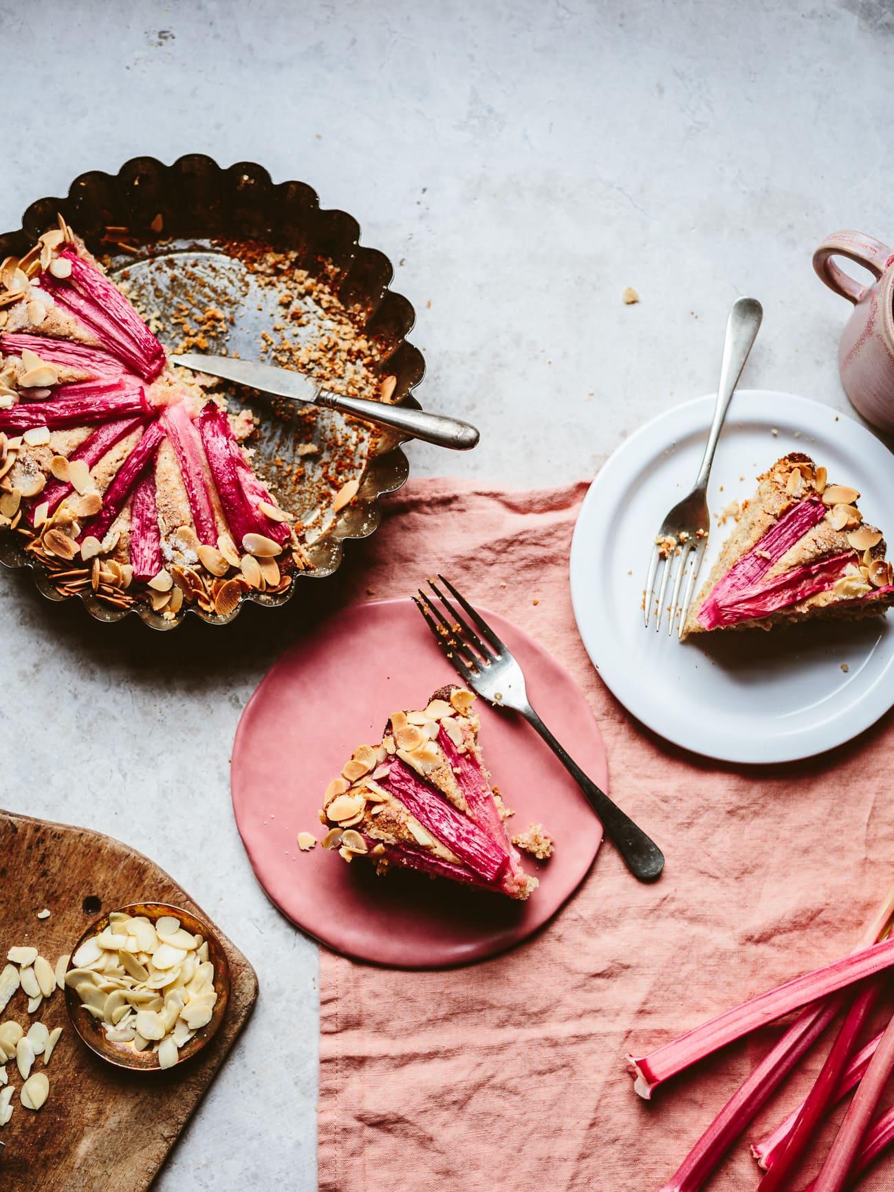 Rhubarb & Almond Cake (vegan option) | Top With Cinnamon | Bloglovin\'