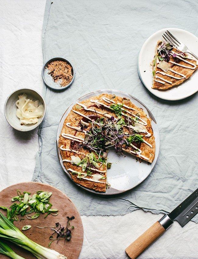 Food Blogger Izy Hossack makes an Asaparagus Okonomiyaki recipe
