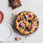 Food blogger Izy Hossack makes Damson Cake with Caramelised Almond Topping (Tosca Cake)