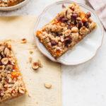 Food Blogger Izy Hossack makes Apricot Hazelnut Streusel Bars