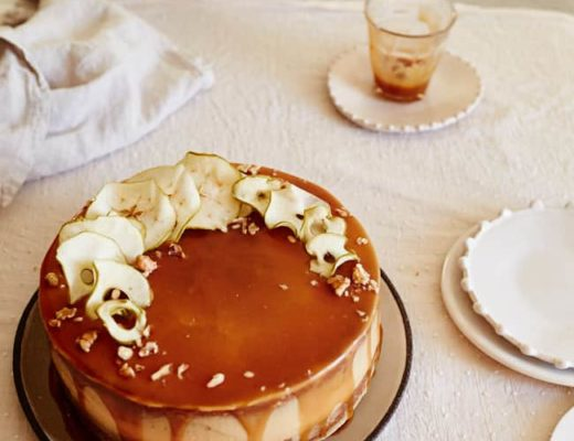 Food Blogger Izy Hossack makes Salted Caramel Apple Cake