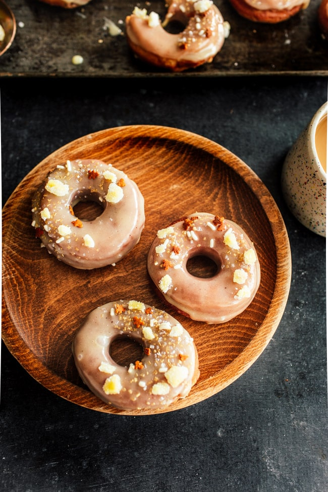 Food Blogger Izy Hossack makes White Chocolate and Gingerbread Doughnuts