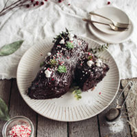 Vegan Chocolate Yule Log