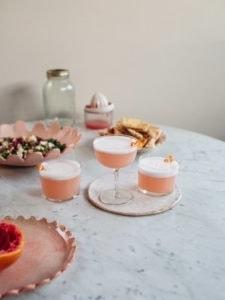 Food blogger Izy Hossack makes Vegan Grapefruit Gin Sour Cocktail