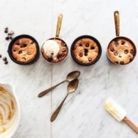 Gooey Chocolate Chip Cookie Pots (for 2)