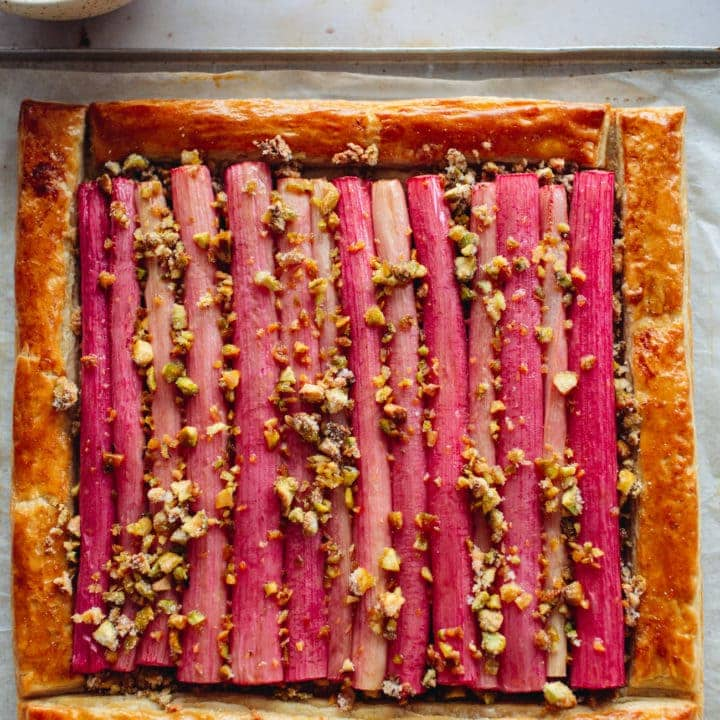 Simple Rhubarb Tart