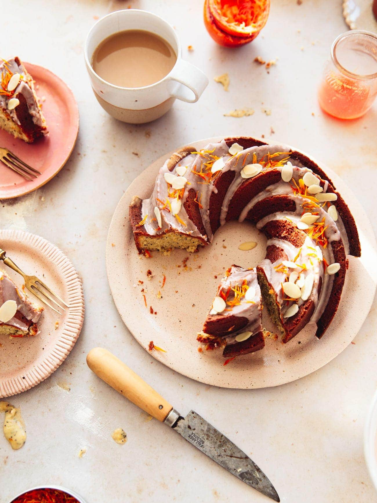 Blood Orange Poppy Seed Bundt Cake by food blogger Izy Hossack