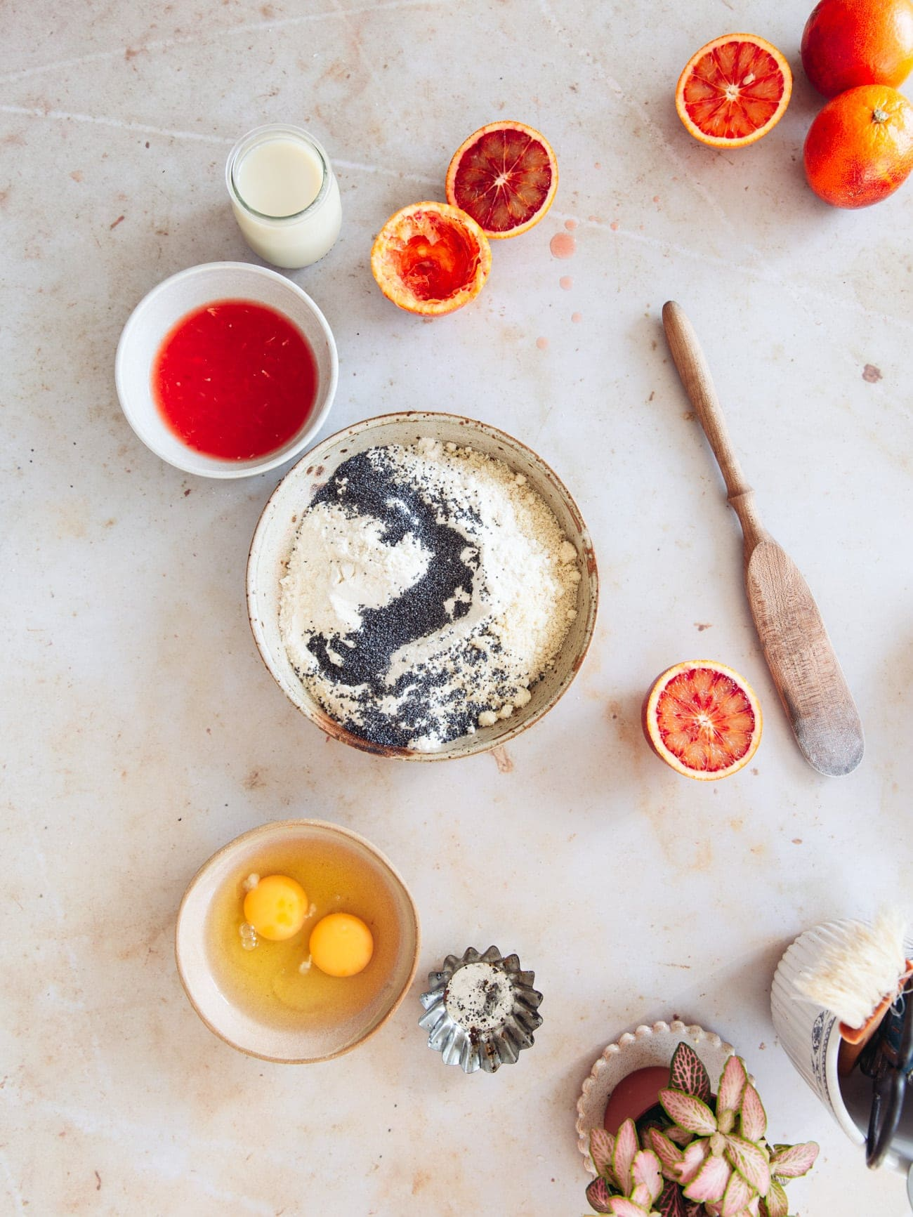 Blood Orange Poppy Seed Cake ingredients by food blogger Izy Hossack
