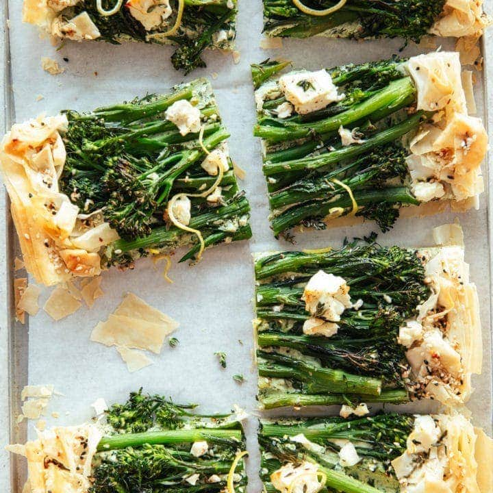 Filo Tart with Broccoli & Ricotta