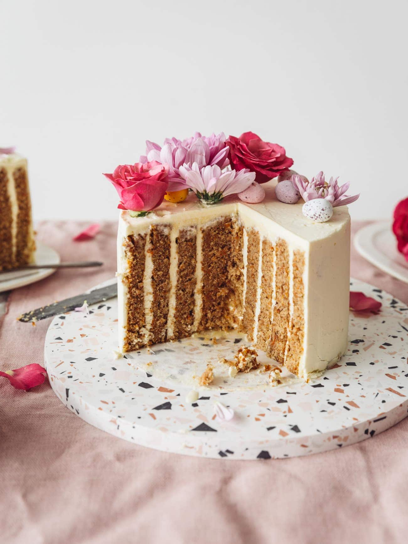 Vertical Layer Carrot Cake Izy Hossack Top With Cinnamon