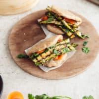 Grilled Asparagus Bao Buns (Vegan)