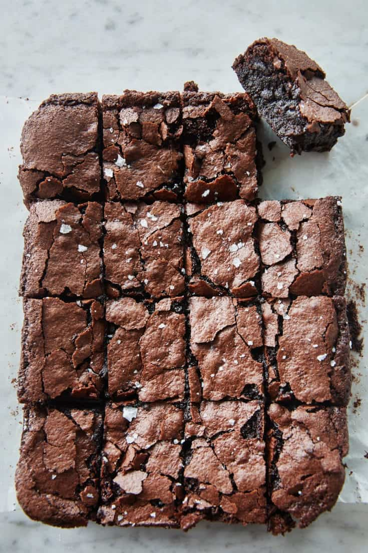 Vegan Sourdough Brownies Izy Hossack Top With Cinnamon