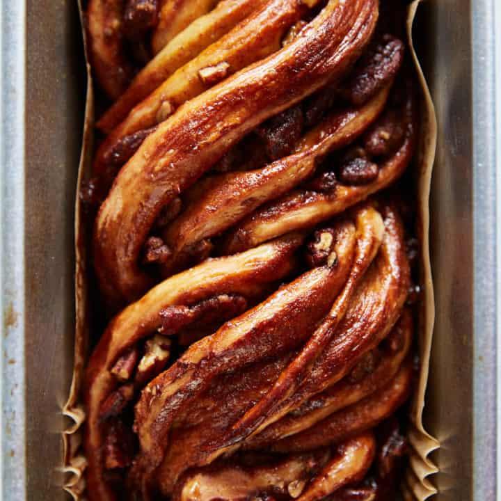 No-Knead Cinnamon-Pecan Babka